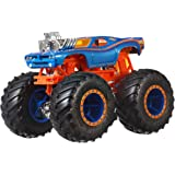 Hot Wheels Monster Trucks 1: 64 WWE Themed Car Assortments - Color and Design May Vary