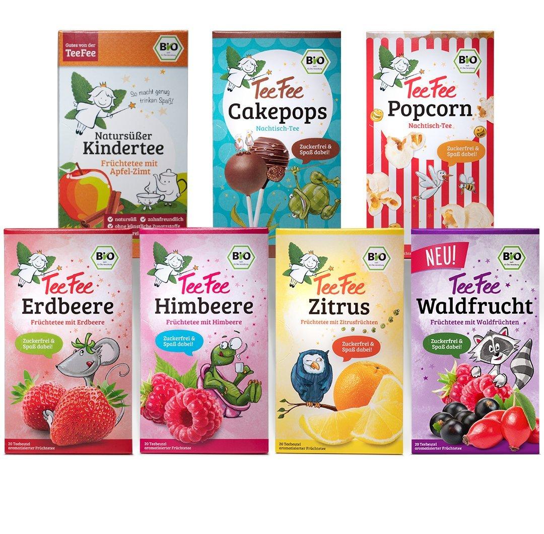 TeeFee-Bio-Frchtetee-Kennenlernset-7-fruchtigefreche-Beuteltees-Kindertee-naturs-und-vegan-140-g