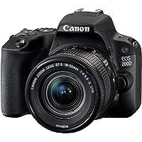 Canon EOS 200D Digitale Spiegelreflexkamera (24,2 Megapixel, 7,7 cm (3 Zoll) Display, APS-C CMOS-Sensor, WLAN mit NFC…