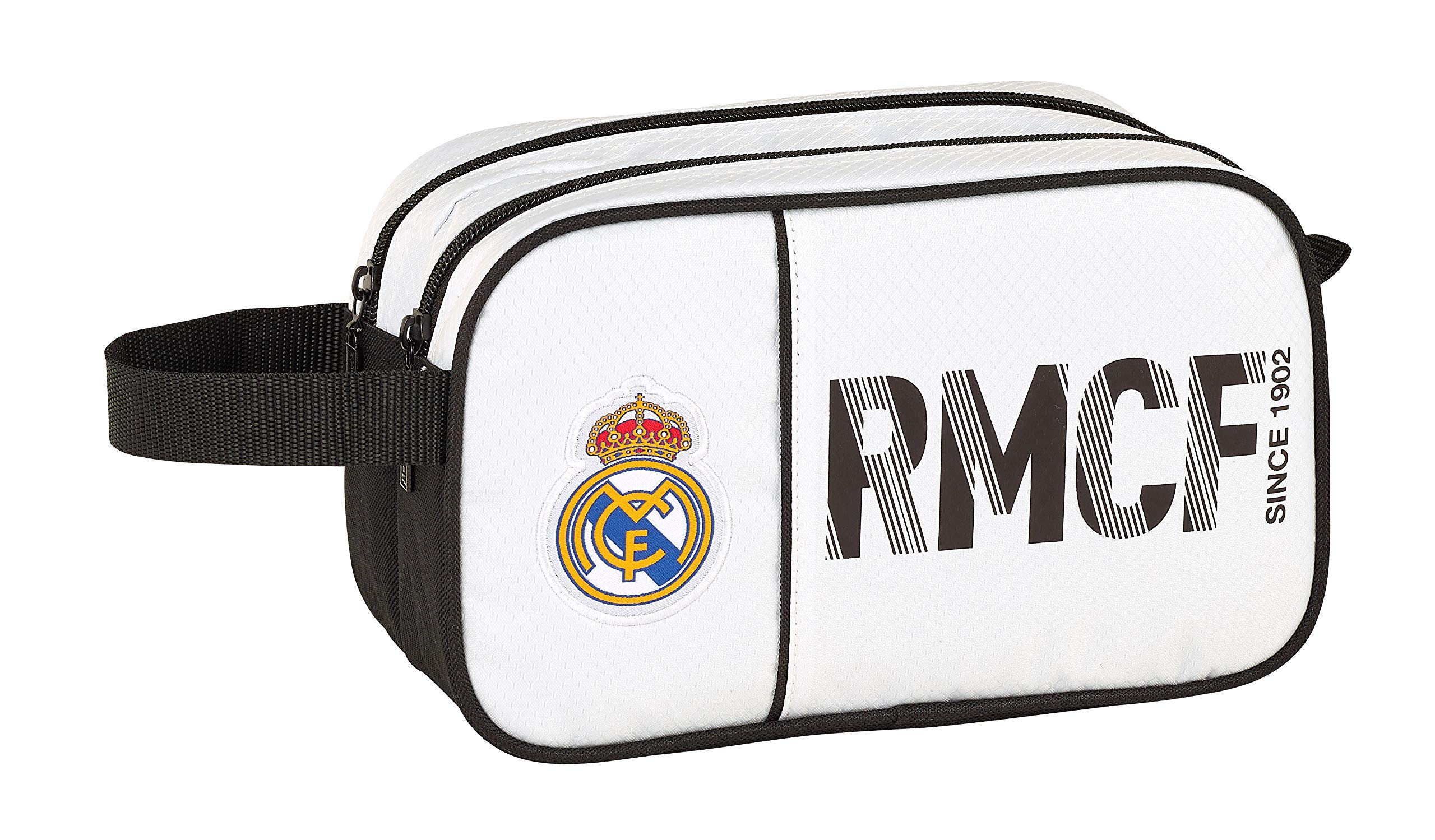 Real Madrid 811854518 2018 Bolsa de Aseo, 26 cm, Blanco