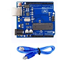 Techleads Uno R3 Atmega328P With Usb Cable Length 1 Feet, Blue And Black