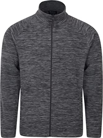 Mountain Warehouse Snowdon Mens Full Zip Fleece - Midlayer Pullover, Breathable Jacket, Soft Outerwear, Smooth Fleece Top - for Winter, Travelling