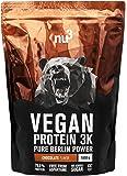 nu3 - Protéines Vegan 3K - 1kg - Chocolat - 71% de Protéines à base de 3 Composants Végétaux - Protéine Végétale destinée à la Prise de Masse Musculaire - Excellente Alternative à la Whey Protein