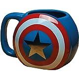 Marvel Avengers - Taza de cerámica, diseño del Capitán América con escudo, multicolor, 10 x 13 x 9 cm