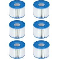 INTEX 29001E Lot de 6 Cartouches filtrantes de Type S1 pour PureSpa