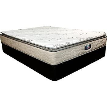 """Boston Pocket Spring 6"""" Pillow Top Mattress For Bed (Color: Off White, Size: 78 Inches X 60 Inches X 6 Inches)"""