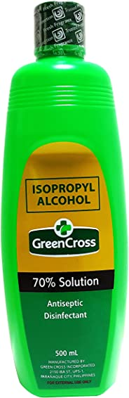 Green Cross Isopropyl Alcohol 70% Solution, 500ml