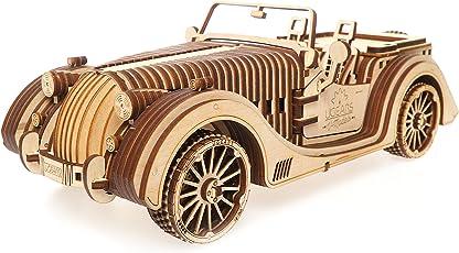 Ugears VM-01 Roadster – Modello di Legno 3D da Costruire – Per Adulti e Bambini – Miniatura Auto Funzionante – in Compensato, Trasmissione Integrata – Ottima Idea Regalo per Appassionati di Motori