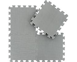 EVA Puzzle Tapis Mousse Bebe - Idéal pour Les Tapis De Jeux Enfant,25 Dalles(30 * 30 * 1cm),Gris.QQC-Lb25N