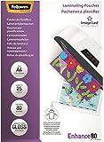 Fellowes 5396205 Pochettes de plastification A4 80 microns par 25