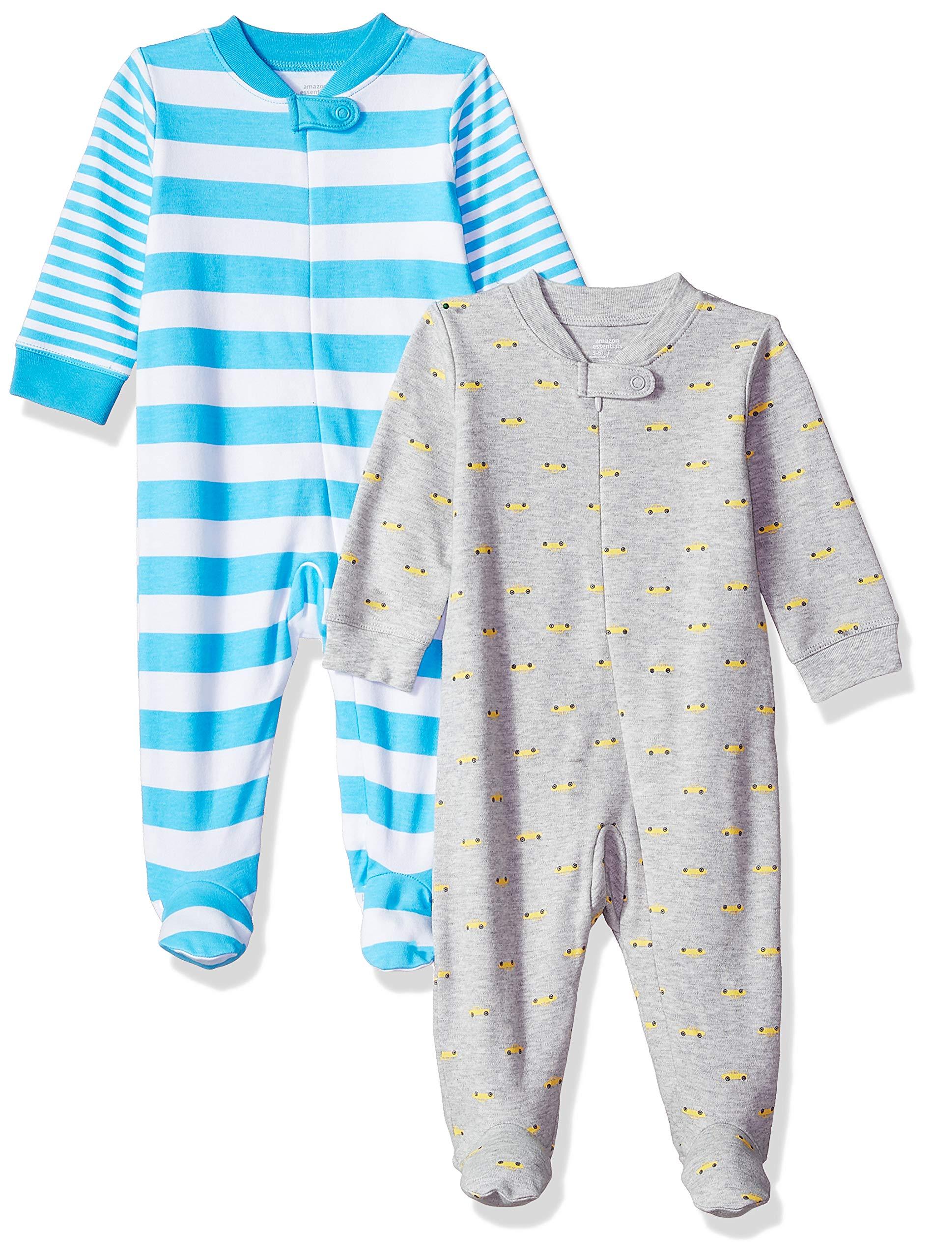 Amazon Essentials - Pack de 2 pijamas de niño para dormir y jugar 1