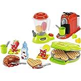 Jouets Ecoiffier – 2624 - Petit Électroménager pour enfants 100 % Chef – 28 pièces – Dès 18 mois – Fabriqué en France