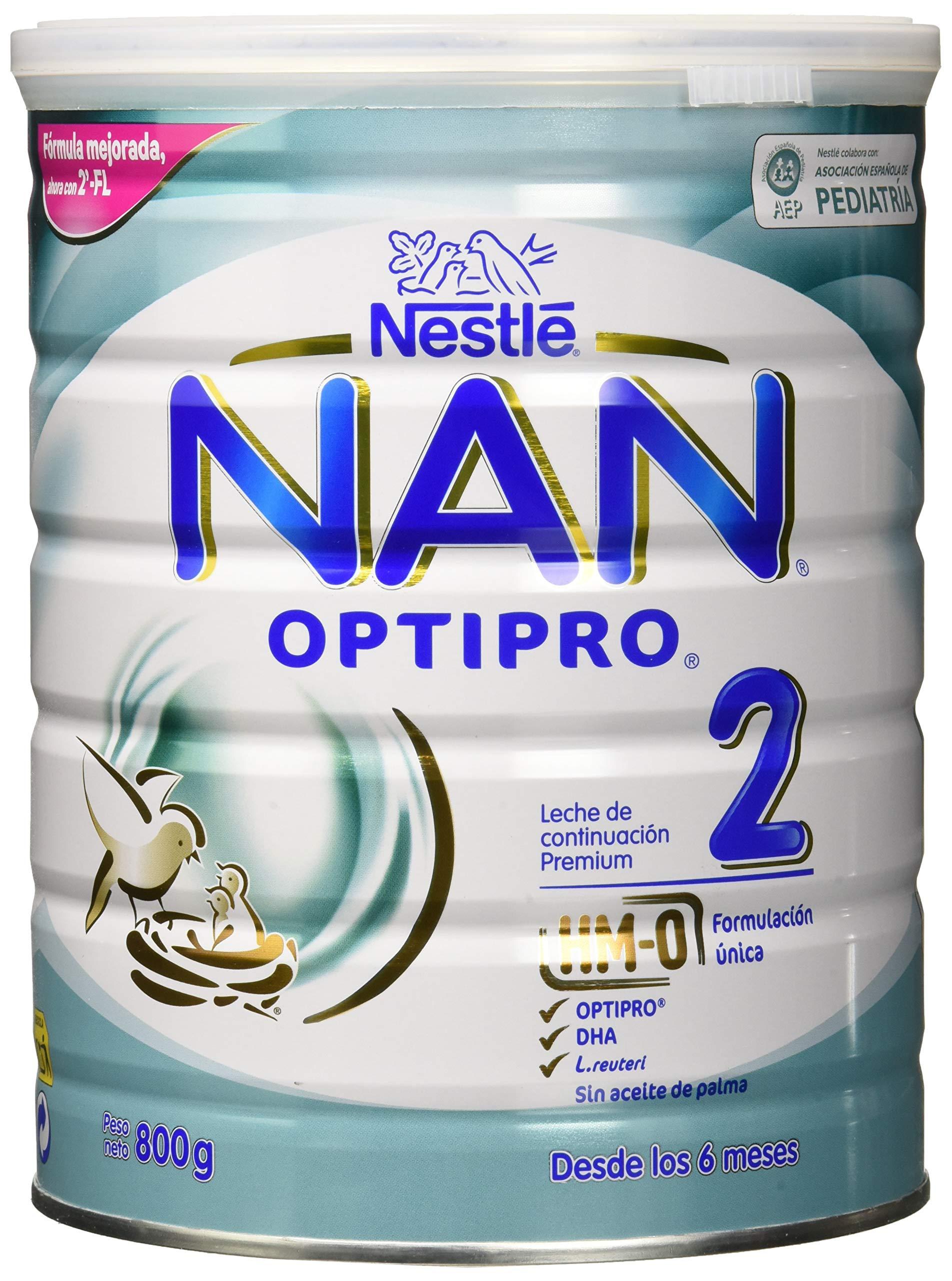 NAN OPTIPRO 2 – Leche de continuación en polvo – Fórmula para bebé – A partir de los 6 meses – 800g