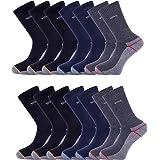 14 Pairs - Heavy Duty | Work Socks | Safety Boot | Hiking Socks | Reinforced Heels and Toes | Antibacterial - Moisture Wickin