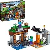 LEGO21166MinecraftLaMinaAbandonada, SetdeConstruccióndelaCuevadeZombiesconFigurasdeSteve,SlimeyAraña