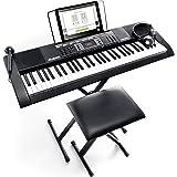 Alesis Melody 61 MKII - Piano Numérique Portable 61 Touches avec des Enceintes Intégrées, Casque, Micro, Stand de Piano, Pupi