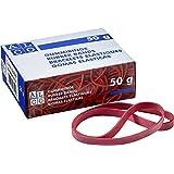 ALCO-Albert 7521 - elastieken 200 x 6 mm, doos van 50 gram, rood