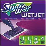 Swiffer WetJet Balai Lave Sol avec Spray, Kit de Démarrage avec 1 Balai Spray, 5 Lingettes, 1 Solution Nettoyante Liquide Et