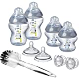 Tommee Tippee Closer to Nature® Newborn Baby Bottle Starter Set, Breast-like Teats with Anti-Colic Valve, Blue
