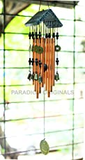 Paradigm Originals Feng Shui Items for Home Decoration Wind Chimes for Home Positive Energy for Balcony Bedroom (Golden, 8 Bell)