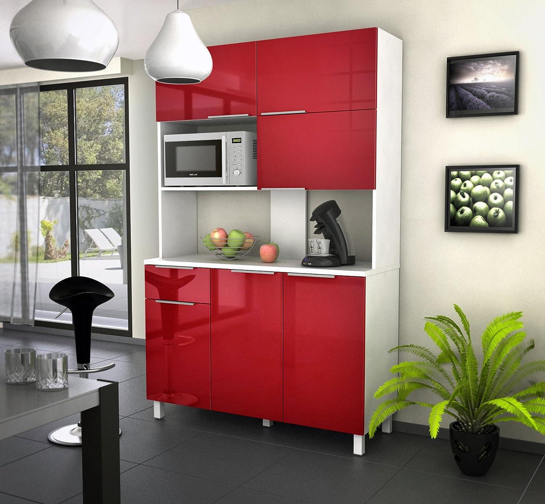 Berlioz creations cbr buffet de cuisine avec portes tiroir rouge haute brillance x x cm amazonfr - Ikea outils jardin asnieres sur seine ...