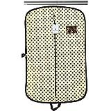 Kuber Industries Foldable Polka Dots Design Non Woven Coat Cover, Cream (CTKTC2416)
