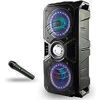 Lauson LLX33 Enceinte Bluetooth Portable avec Lumière Multicolore LED, Haut-Parleur Bluetooth avec Lecteur MP3 USB…
