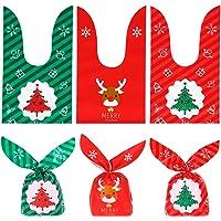 150 Sachets Noël Sachet Bonbons Sacs de Bonbons Noël Sacs de Bonbons Oreilles Mignonnes pour Les Bonbons au Chocolat…