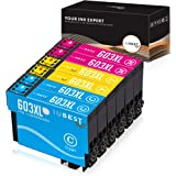 IUBEST 603 XL Cartuchos de tinta Reemplazo para Epson 603XL Cartuchos Compatible para Epson Expression Home XP-2100 XP-2105 X