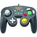 HORI Battle Pad (Zelda) - Manette USB style GameCube pour Switch - Officielle Nintendo