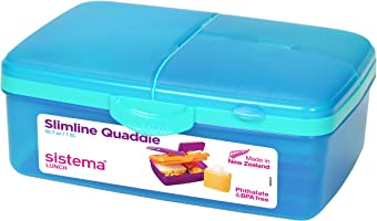 Sistema Lunch Slimline Quaddie Lunchbox with Bottle