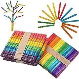 400 st flerfärgade klubbpinnar gör-det-själv naturliga hantverk träpinnar jumbo klubbpinnar för gör-det-själv, hantverk kreat