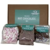 Hot Chocolate Gift Set Including 200g of Deluxe Belgian hot Chocolate Powder, a Packet of Marshmallows and Sprinkles.