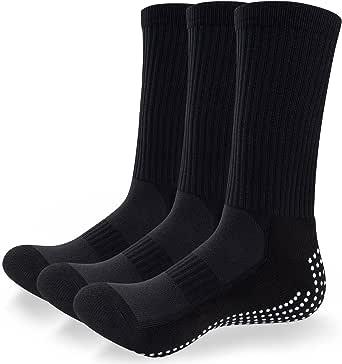 TANSTC Anti-slip Sport Sock for Men Women, Cushion Wicking Breathable Socks Grip Socks for Football Basketball Baseball Yoga Runing Hiking Trekking