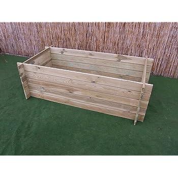 Stabiler Holzkomposter Komposter Kompostbehalter Hochbeet 195 X 65 X