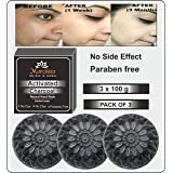 Mahalaxmi Creation Morchito Activated Charcoal Soap For Women Skin Whitening, Natural Detox Face & Body Soap for Acne, Blackh