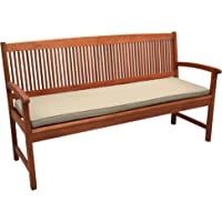 Beautissu Garden Bench Cushion Loft BK Comfortable And Modern Outdoor Seat Pad 100 x 48 x 5 cm Natur - Bench Pad Various Sizes and Colours
