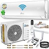 Kältebringer Split Airconditioning set - Quick-Connect split-apparaat met wifi/app, Smart Home - tot 55 m² - 12000 BTU, 3,4 k