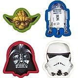 """Marvel """"Darth Vader/Yoda/Stormtrooper/D2 Star Wars Ausstechformen, Mehrfarbig, 4Stück"""