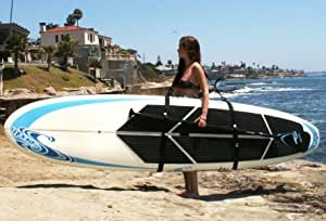 Big Board Schlepper Stand Up Paddleboard Easy Carry Strap Sup Shoulder Sling Board Carrier By Better Surf Than Sorry Sport Freizeit