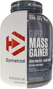 Dymatize Super Mass Gainer Protein Supplement with Digestive Enzymes, Rich Choco, 6 lbs