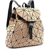 Tikea Rucksack Kork, Schulranzen Geometrische Tasche Causal Daypack Rucksackhandtasche Schultasche Studenten Buchtasche Reise
