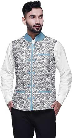 Atasi Printed Wedding Jackets for Men Nehru Jacket Waist Coat for Wedding & Festive Season