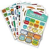 Essentials Travel Planner Stickers Set of 200+ Stickers