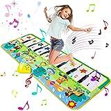 Luchild Alfombra Musical, Alfombra Piano para Niños Alfombrilla de Baile Teclado Estera de Alfombra Touch Juego Musical Portá