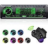 CENXINY Autoradio met Bluetooth handsfree, 7 kleuren licht instelbaar, 1 Din autoradio Bluetooth met USB*2/AUX/TF, MP3-speler