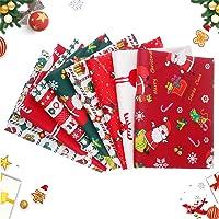 8 St/ück Christmas Fabric Baumwollstoff Meterware Stoffpakete weihnachten 5pcs-25 x 25cm 25 x 25cm//50 x 50cm DIY Stoff zum N/ähen Patchwork Stoff Paket Stoffreste n/ähstoffe Baumwolle