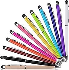 Eingabestift, PROKING 12 Stück Kapazitive Stylus und Kugelschreiber 2 in 1 Stylus für Touch Screens Geräte, Stylus Stifte für iPad, iPhone, Kindle, Samsung, HTC, Tablets und andere Touchscreens(12 Color)