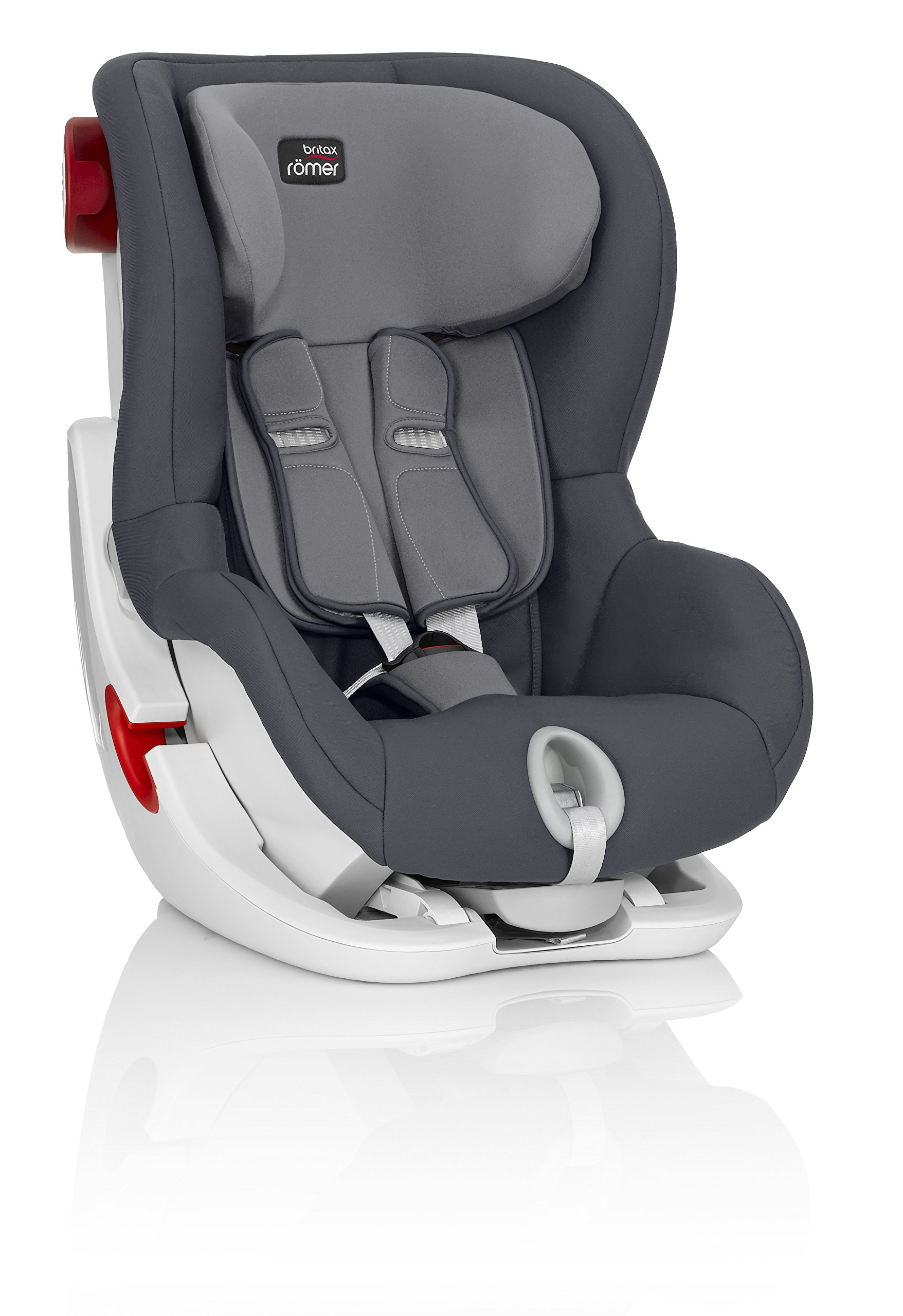 Britax Römer King II Group 1 (9-18kg) Car Seat - Storm Grey  Easy installation - with tilting seat and patented seat belt tensioning system Optimum protection - performance chest pads, deep, padded side wings 3