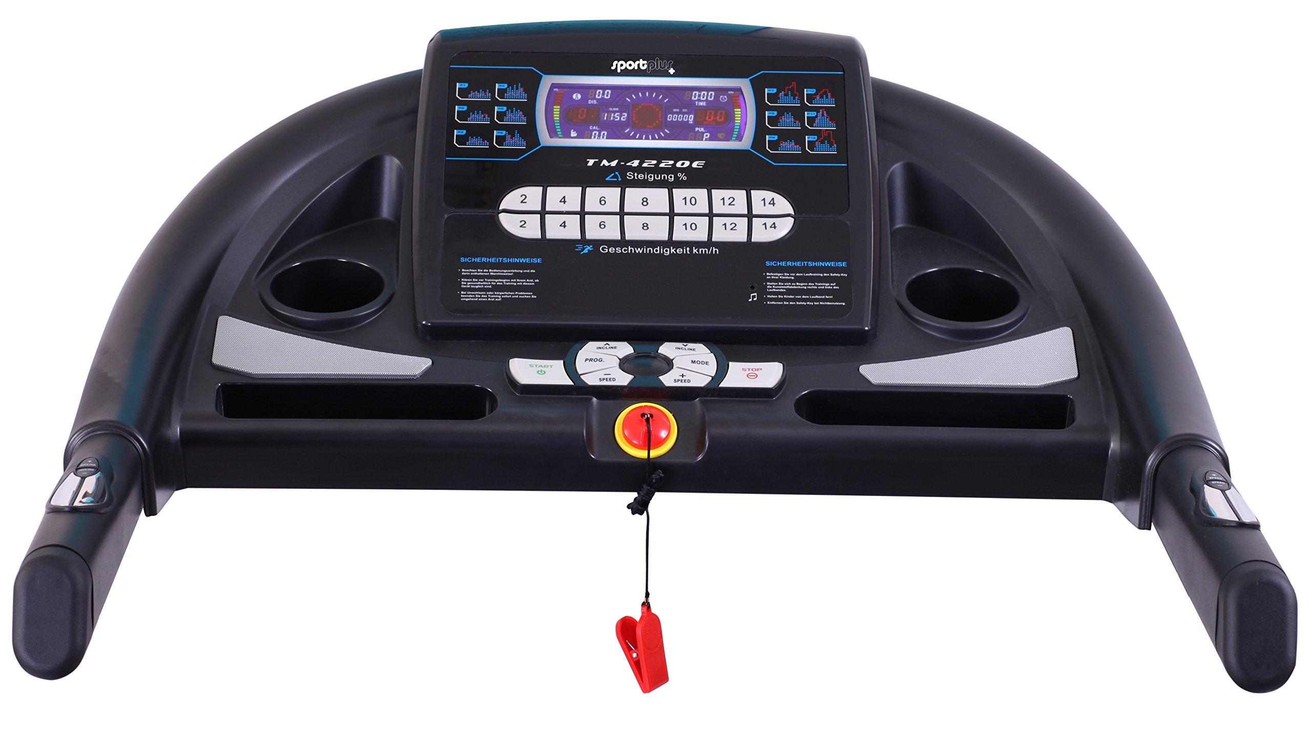 Sport Plus–Tapis roulant Professionale con Motore Regolazione della Pendenza, Silent e Sistema Ammortizzante Multipoint, Sicurezza Testato Secondo EN ISO 20957–1, EN 957–6 3 spesavip